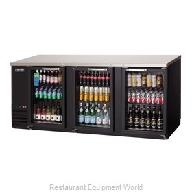Everest Refrigeration EBB90G Back Bar Cabinet, Refrigerated