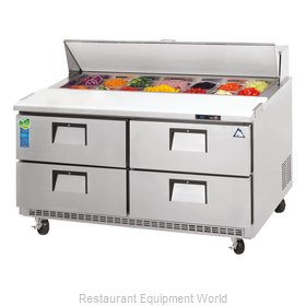 Everest Refrigeration EPBNR2-D4 Refrigerated Counter, Sandwich / Salad Top