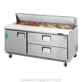 Everest Refrigeration EPBNR3-D2 Refrigerated Counter, Sandwich / Salad Top