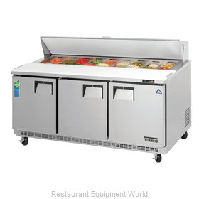 Everest Refrigeration EPBNR3 Refrigerated Counter, Sandwich / Salad Top