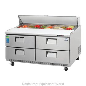 Everest Refrigeration EPBNWR2-D4 Refrigerated Counter, Sandwich / Salad Top