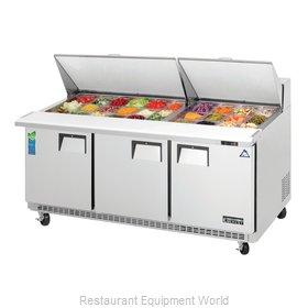 Everest Refrigeration EPBR3 Refrigerated Counter, Mega Top Sandwich / Salad Unit