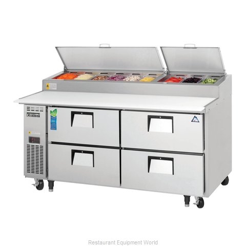 Everest Refrigeration EPPR2-D4 Refrigerated Counter, Pizza Prep Table