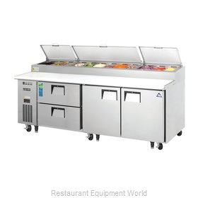 Everest Refrigeration EPPR3-D2 Refrigerated Counter, Pizza Prep Table