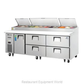Everest Refrigeration EPPR3-D4 Refrigerated Counter, Pizza Prep Table