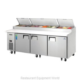 Everest Refrigeration EPPR3 Pizza Prep Table Refrigerated