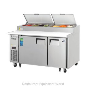 Everest Refrigeration EPPSR2 Pizza Prep Table Refrigerated