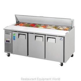 Everest Refrigeration EPR3 Refrigerated Counter, Sandwich / Salad Top