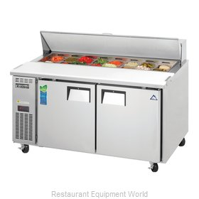 Everest Refrigeration EPWR2 Refrigerated Counter, Sandwich / Salad Top