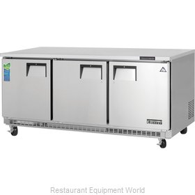 Everest Refrigeration ETBF3 Freezer, Undercounter, Reach-In