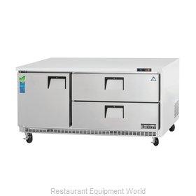 Everest Refrigeration ETBR3-D2 Refrigerator, Undercounter, Reach-In