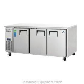 Everest Refrigeration ETR3 Refrigerator, Undercounter, Reach-In