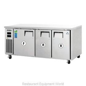 Everest Refrigeration ETRF3 Refrigerator Freezer, Undercounter, Reach-In