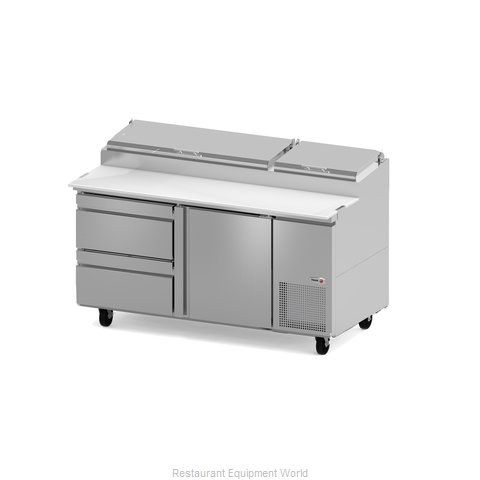Fagor Refrigeration FPT-67-D2 Refrigerated Counter, Pizza Prep Table