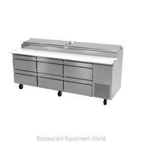 Fagor Refrigeration FPT-93-D6 Refrigerated Counter, Pizza Prep Table