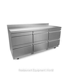 Fagor Refrigeration FUR-72-D6-N Refrigerator, Undercounter, Reach-In