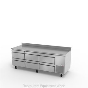 Fagor Refrigeration SWR-93-D6 Refrigerated Counter, Work Top