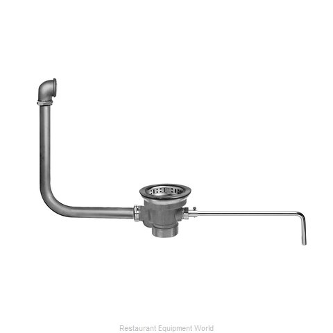 Fisher 28959 Drain, Lever / Twist Waste (Magnified)