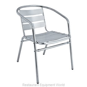 Florida Seating AL-02 Chair, Armchair, Stacking, Outdoor