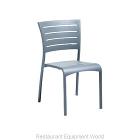 Florida Seating AL-5000-S WARM GRAY/SILVER Chair, Side, Outdoor