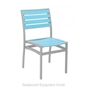 Florida Seating AL-5602-0-SILVER/ BLUE Chair, Side, Stacking, Outdoor