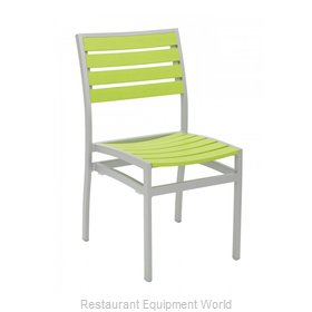 Florida Seating AL-5602-0-SILVER/ GREEN Chair, Side, Stacking, Outdoor