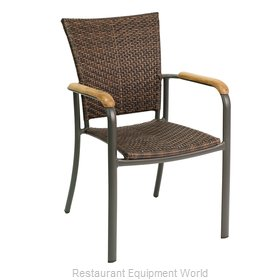 Florida Seating AL-5605 Chair, Armchair, Stacking, Outdoor