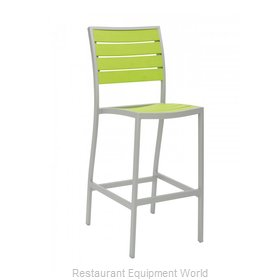 Florida Seating BAL-5602-0-SILVER/ GREEN Bar Stool, Stacking, Outdoor