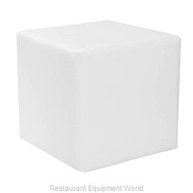 Florida Seating CUBE SIDE TABLE-WHITE Sofa Seating Low Table, Indoor