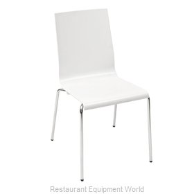 Florida Seating KUADRA-S/IVORY Chair, Side, Stacking, Indoor