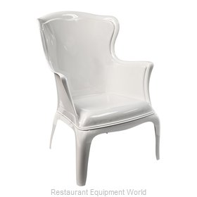Florida Seating PASHA-WHITE Chair, Armchair, Outdoor