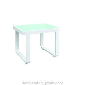 Florida Seating PB END TABLE W/GLASS Table, Outdoor