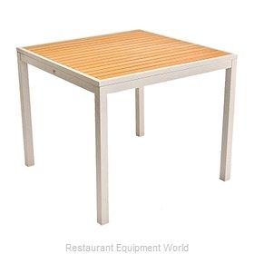 Florida Seating TEAK INLAY32X32 Table, Outdoor