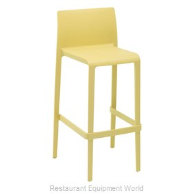 Florida Seating VOLT-B / YELLOW Bar Stool, Stacking, Outdoor