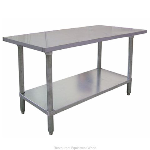 Food Machinery of America 17577 Work Table 24 Long Stainless steel Top