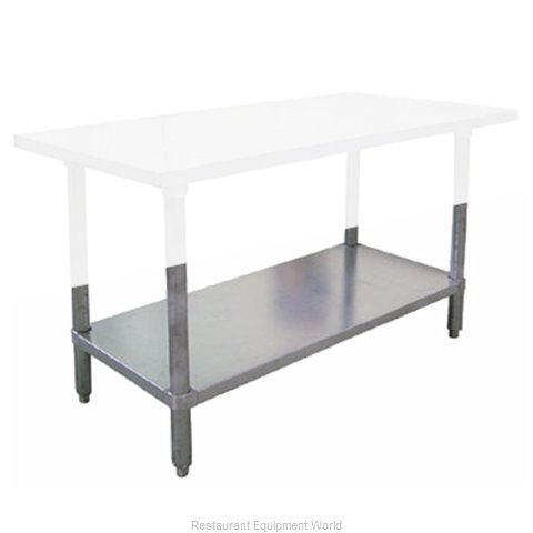 Food Machinery of America 17615 Undershelf for Work Prep Table