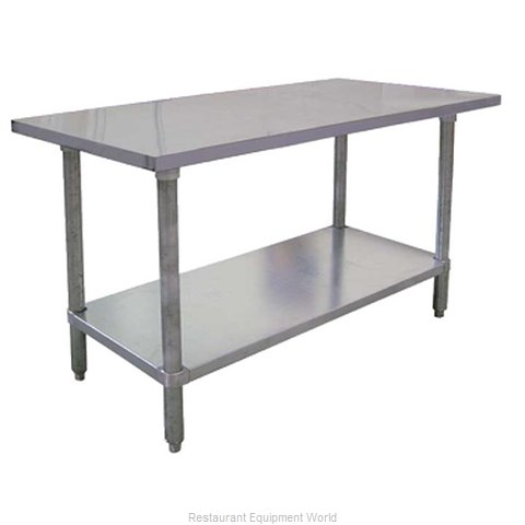 Food Machinery of America 19135 Work Table 24 Long Stainless steel Top