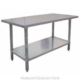 Food Machinery of America 20198 Work Table 84 Long Stainless steel Top