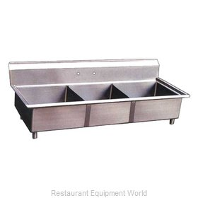Food Machinery of America 22114 Sink, (3) Three Compartment