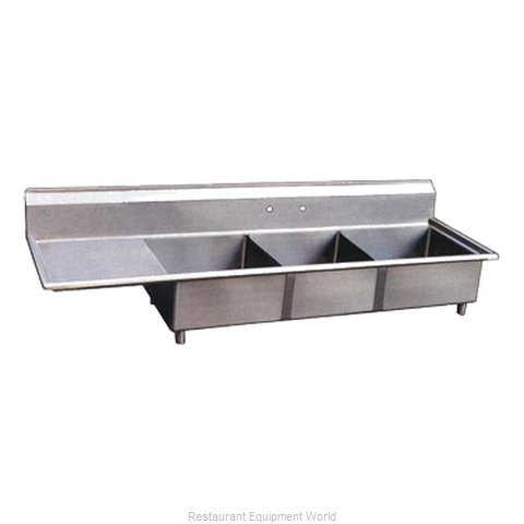 Food Machinery of America 22115 Sink 3 Three Compartment