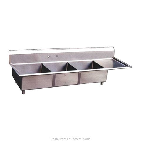 Food Machinery of America 22116 Sink, (3) Three Compartment