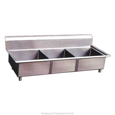 Food Machinery of America 22120 Sink, (3) Three Compartment
