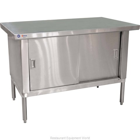 Food Machinery of America 24399 Work Table, Cabinet Base Sliding Doors