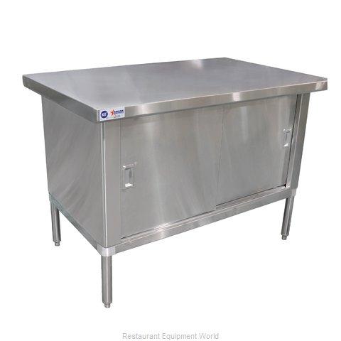 Food Machinery of America 24402 Work Table, Cabinet Base Sliding Doors