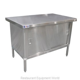 Food Machinery of America 24402 Work Table, Cabinet Base Sliding Doors