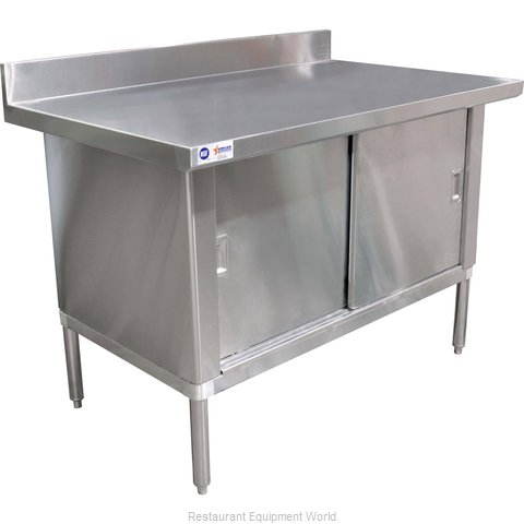 Food Machinery of America 24404 Work Table, Cabinet Base Sliding Doors