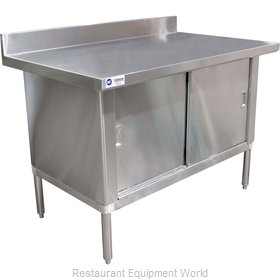 Food Machinery of America 24405 Work Table, Cabinet Base Sliding Doors