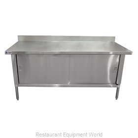 Food Machinery of America 24407 Work Table, Cabinet Base Sliding Doors