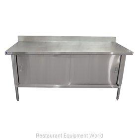 Food Machinery of America 24408 Work Table, Cabinet Base Sliding Doors