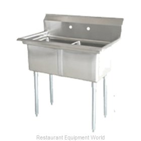 Food Machinery of America 25252 Sink, (2) Two Compartment